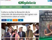 Cultura recibe la donación de la colección de documentos de Ligüeri con testimonios sobre el exilio
