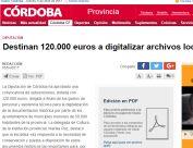 Destinan 120.000 euros a digitalizar archivos locales