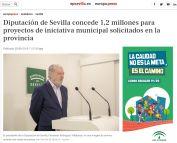 Diputación de Sevilla concede 1,2 millones para proyectos de iniciativa municipal solicitados en la provincia