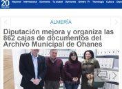 Diputación mejora y organiza las 862 cajas de documentos del Archivo Municipal de Ohanes