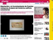 Diputación y el Ayuntamiento de Fuentes restauran el plano del histórico edificio consistorial