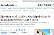 Ejecutan en el Archivo Municipal obras de mantenimiento por 4.288 euros