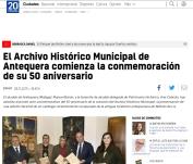 El Archivo Histórico Municipal de Antequera comienza la conmemoración de su 50 aniversario