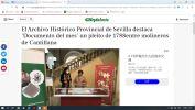 El Archivo Histórico Provincial de Sevilla destaca Documento del mes un pleito de 1788 entre molineros de Cantillana
