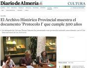 El Archivo Histórico Provincial muestra el documento 'Protocolo I' que cumple 500 años