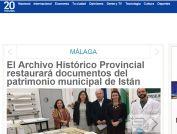 El Archivo Histórico Provincial restaurará documentos del patrimonio municipal de Istán