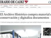 El Archivo Histórico compra material de conservación y digitaliza documentos - Chiclana