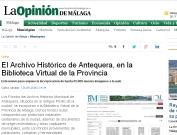 El Archivo Histórico de Antequera, en la Biblioteca Virtual de la Provincia
