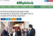 El Archivo Histórico de Jaén rinde homenaje al impresor Luis Jaén con la muestra 'El arte de imprimir'