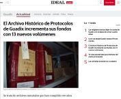 El Archivo Histórico de Protocolos de Guadix incrementa sus fondos con 13 nuevos volúmenes