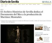 El Archivo Histórico de Sevilla dedica el Documento del Mes a la producción de Martínez Montañés