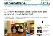 El Archivo Histórico expone el contrato para realizar el reloj de la Catedral
