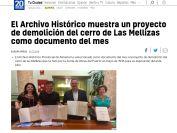 El Archivo Histórico muestra un proyecto de demolición del cerro de Las Mellizas como documento del mes