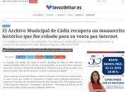 El Archivo Municipal de Cádiz recupera un manuscrito histórico que fue robado para su venta por internet