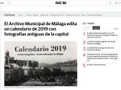 El Archivo Municipal de Málaga edita un calendario de 2019 con fotografías antiguas de la capital