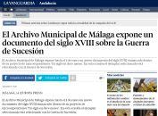 El Archivo Municipal de Málaga expone un documento del siglo XVIII sobre la Guerra de Sucesión