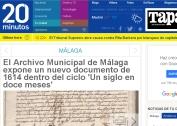El Archivo Municipal de Málaga expone un nuevo documento de 1614