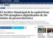 El Archivo Municipal de la capital tiene 16.700 ejemplares digitalizados