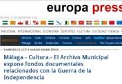 El Archivo Municipal expone fondos documentales relacionados con la Guerra de la Independencia