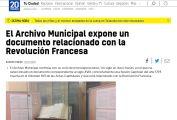 El Archivo Municipal expone un documento relacionado con la Revolución Francesa