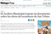 El Archivo Municipal expone un documento sobre las obras del acueducto de San Telmo