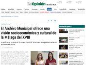 El Archivo Municipal ofrece una visión socioeconómica y cultural de la Málaga del XVIII