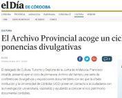 El Archivo Provincial acoge un ciclo de ponencias divulgativas