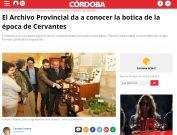 El Archivo Provincial da a conocer la botica de la época de Cervantes