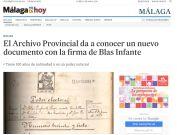El Archivo Provincial da a conocer un nuevo documento con la firma de Blas Infante