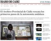 El Archivo Provincial de Cádiz rescata los primeros pasos de la autonomía andaluza