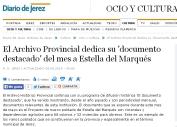 El Archivo Provincial dedica su 'documento destacado' del mes a Estella del Marqués