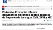El Archivo Provincial difunde documentos históricos de tres gestoras de imprenta de los siglos XVII, XVIII y XIX