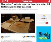 El Archivo Provincial muestra la restauración del testamento del Inca Garcilaso
