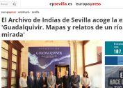 El Archivo de Indias de Sevilla acoge la exposición 'Guadalquivir. Mapas y relatos de un río. Imagen y mirada'