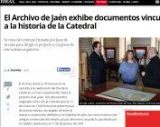 El Archivo de Jaén exhibe documentos vinculados a la historia de la Catedral