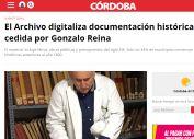 El Archivo digitaliza documentación histórica cedida por Gonzalo Reina