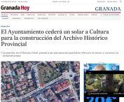 El Ayuntamiento cederá un solar a Cultura para la construcción del Archivo Histórico Provincial