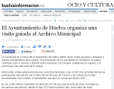 El Ayuntamiento de Huelva organiza una visita guiada al Archivo Municipal