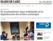 El Ayuntamiento sigue trabajando en la digitalización del archivo municipal.