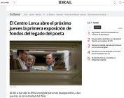 El Centro Lorca abre el próximo jueves la primera exposición de fondos del legado del poeta