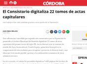 El Consistorio digitaliza 22 tomos de actas capitulares