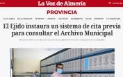 El Ejido instaura un sistema de cita previa para consultar el Archivo Municipal