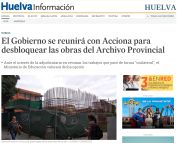 El Gobierno se reunirá con Acciona para desbloquear las obras del Archivo Provincial