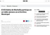 El IES Bahía de Marbella participa en un taller pionero en el Archivo Municipal