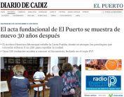 El acta fundacional de El Puerto se muestra de nuevo 30 años después