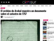 El archivo de Arahal muestra un documento sobre el catastro de 1757