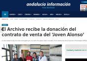 El archivo municipal recibe el documento de venta del ¿Joven Alonso¿