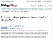 El archivo municipal revisa la esclavitud en el siglo XVI