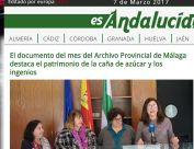 El documento del mes del Archivo Provincial de Málaga destaca el patrimonio de la caña de azúcar y los ingenios