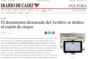 El documento destacado del Archivo se dedica al cupón de ciegos
